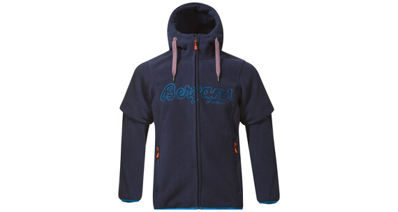Bergans Bryggen Jacket Youth Navy/Light Sea Blue/Koi Orange